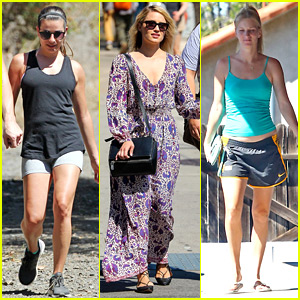 Lea Michele, Dianna Agron, & Heather Morris Make Separate Saturday Outings
