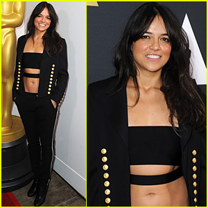 Michelle Rodriguez Supports College Filmmakers at the Student Academy Awards