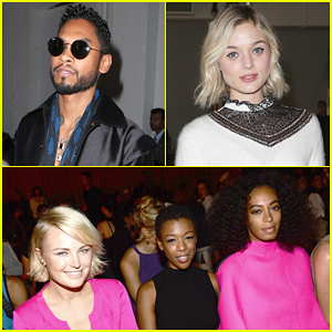 Miguel & Bella Heathcote Sit Front Row At Rodarte For NYFW!