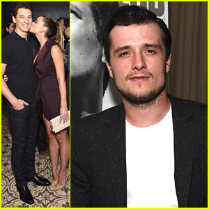 Miles Teller Gets Kiss From Keleigh Sperry At Men's Fitness' Game Changers Party