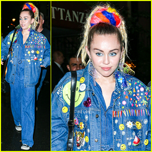 Miley Cyrus Does Double Denim After 'SNL' Rehearsal