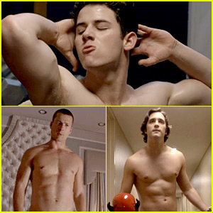 Nick Jonas, Diego Boneta, & Glen Powell Go Shirtless for 'Scream Queens' Series Premiere!