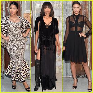 Nicki Minaj & Ciara Go Givenchy Glam During NYFW 2015