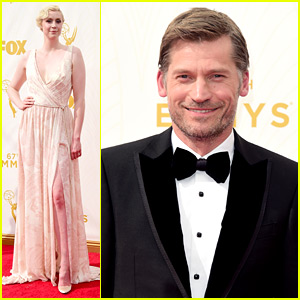 Game of Thrones' Nikolaj Coster-Waldau Suits Up for Emmys 2015 with Gwendoline Christie!