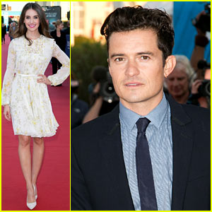Orlando Bloom Suits Up at Deauville Event with Alison Brie