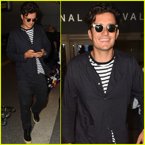 Orlando Bloom Returns to LA After Being Honored at the Deauville American Film Festival