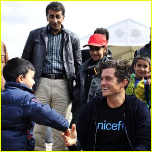 Orlando Bloom Visits Syrian Refugees on UNICEF Trip