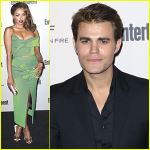 Paul Wesley & Kat Graham Honor Nominees At Entertainment Weekly's Pre-Emmy Party