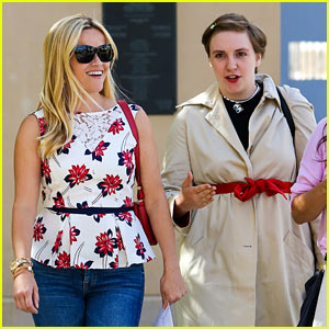 Reese Witherspoon Takes a Lunch Meeting with Lena Dunham