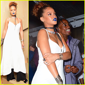 Rihanna Hosts NYFW Roc Nation Block Party with Travis Scott!