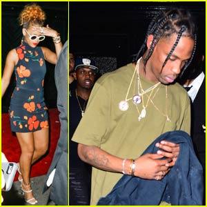 Rihanna Parties With Rumored Boyfriend Travis Scott in NYC