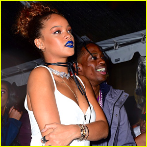 Rihanna & Travis Scott Make Out at NYFW Party (Video)