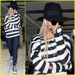 Rita Ora Heads Back To London Following VMAs Weekend