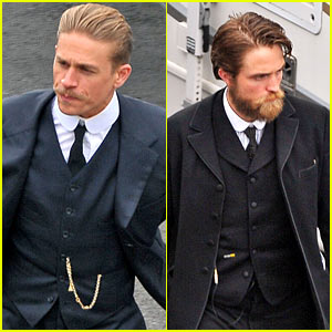 Charlie Hunnam & Robert Pattinson Suit Up & Sport Facial Hair on 'Lost City of Z' Set