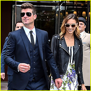 Robin Thicke & Girlfriend April Love Geary Go Sightseeing in Paris!