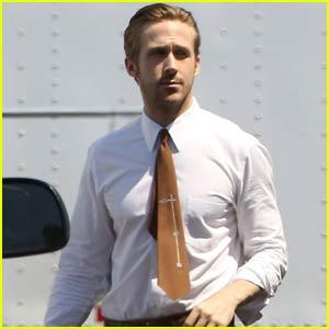 Ryan Gosling Suits Up for 'La La Land' Filming in Pasadena