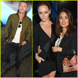 Salma Hayek & Luke Evans Get 'Original' At London Fashion Week