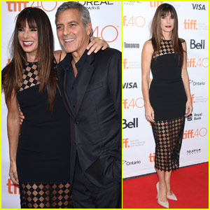 Sandra Bullock & George Clooney Reunite at 'Our Brand Is Crisis' Premiere