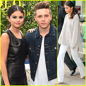 Selena Gomez Meets Brooklyn Beckham At The Polo Ralph Lauren Show During NYFW
