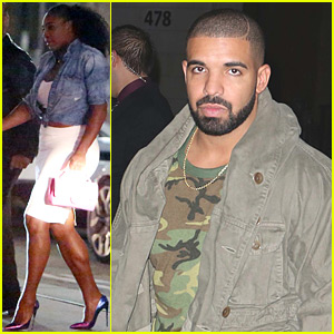 Serena Williams Supports Rumored Boyfriend Drake at His Restaurant Opening