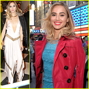 Suki Waterhouse Takes Over Times Square For Burberry's Make Up Launch