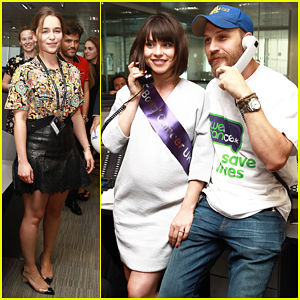 Tom Hardy & Pregnant Wife Charlotte Riley Join Emilia Clarke For BGC Global Charity Day!
