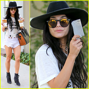 Vanessa Hudgens Doubles Up Her Coffee Order After Business Meetings