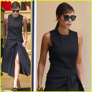 Victoria Beckham Debuts New Bangs While Out In London