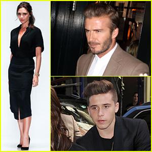 David & Brooklyn Beckham Support Victoria Beckham at NYFW Show!