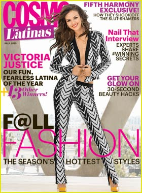 Victoria Justice is Fun & Fearless for Cosmo for Latinas' October 2015 Cover!