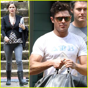 Zac Efron Shows Off His Bulging Biceps on 'Neighbors 2' Set