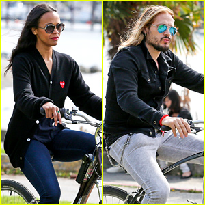 Zoe Saldana & Marco Perego Spend Saturday with Their Family!