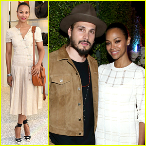 Zoe Saldana Snaps Adorable Pic with Her Twins Before Work