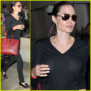 Angelina Jolie Touches Down in Los Angeles with Her Kids!