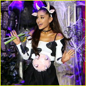 Ariana Grande Dresses as a Sexy Cow for Halloween 2015!