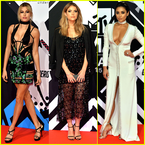 Hailey Baldwin Joins Shay Mitchell & Ashley Benson At MTV EMAs 2015