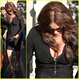 Caitlyn Jenner Shows Off Major Cleavage at Kim Kardashian's Surprise Birthday Party