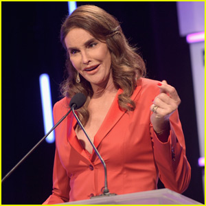 Caitlyn Jenner Stuns in Sexy Low-Cut Pantsuit at LBGT Gala