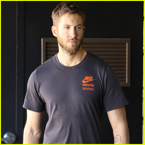 Calvin Harris Bulks Up at the Gym While Taylor Swift Tours