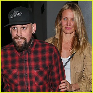 Cameron Diaz & Benji Madden Have a Late Night at the Salon