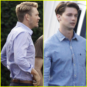 Chad Michael Murray & Patrick Schwarzenegger Get Preppy for 'Scream Queens' in New Orleans