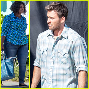 Chris Evans Get to Work on 'Gifted' with Octavia Spencer