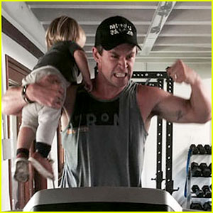 Chris Hemsworth Flexes, Holds His Son in New Workout Photo!