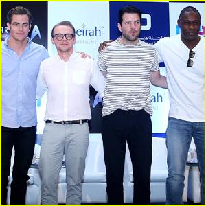 Chris Pine & Zachary Quinto Arrive in Dubai for 'Star Trek Beyond' Filming With Idris Elba