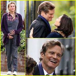 Colin Firth Films 'Bridget Jones's Baby' - First Look Photos!