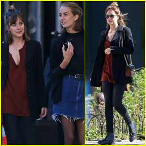 Dakota Johnson Spends Quality Time With Her Sister Grace in NYC