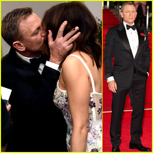 Daniel Craig Kisses Wife Rachel Weisz at 'Spectre' Premiere!