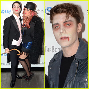 Darren Criss & Girlfriend Mia Swier Couple Up for Halloween with Nolan Funk!