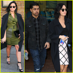 Demi Lovato Gets Support From Boyfriend Wilmer Valderrama While Promoting 'Future Now' Tour in NYC