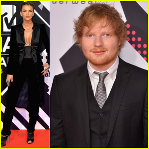 Ed Sheeran & Ruby Rose Arrive to Host the MTV EMAs 2015